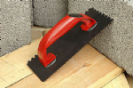 Linic UK Made Tiling Grout Float Notched Comb 270mm x 110 mm RED. S7181